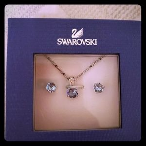 Swarovski necklace and earing set